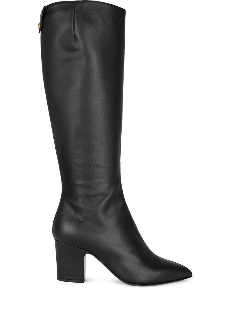 Giuseppe Zanotti leather boots with pointed toe