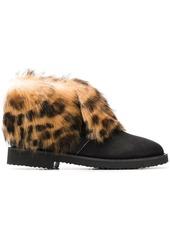 Giuseppe Zanotti Leopard ankle boots