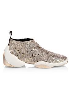 Giuseppe Zanotti Lightjump Logo Glitter Sneakers