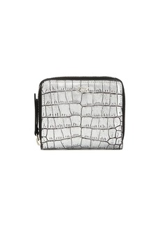 Giuseppe Zanotti metallic crocodile embossed wallet