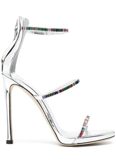 Giuseppe Zanotti metallic-effect crystal-embellished sandals