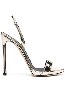 Giuseppe Zanotti metallic-effect high-heel sandals