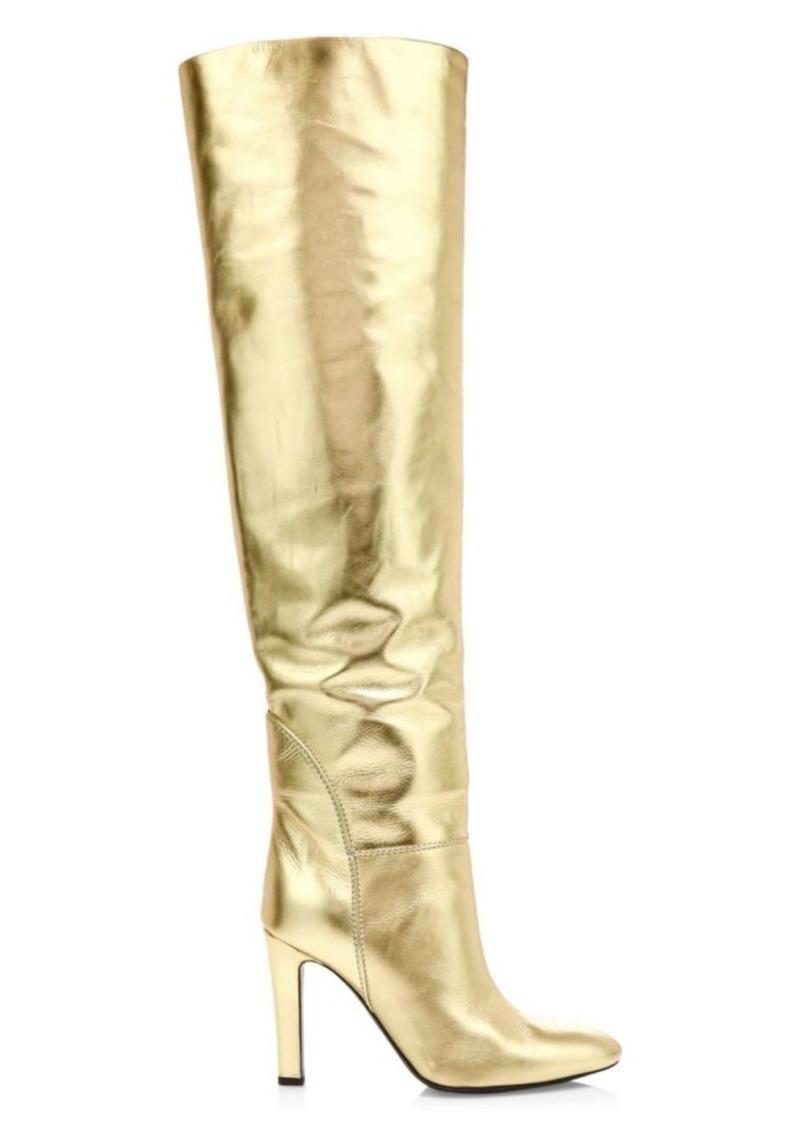Giuseppe Zanotti Metallic Leather Knee-High Boots