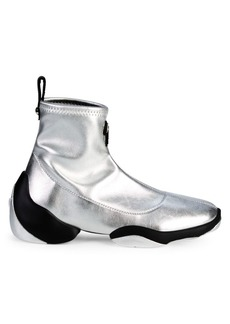 Giuseppe Zanotti Metallic Logo Sock Sneakers