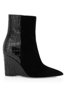Giuseppe Zanotti Mixed Media Wedge Bootie