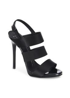 Giuseppe Zanotti Multi-Strap Satin Slingback Sandals