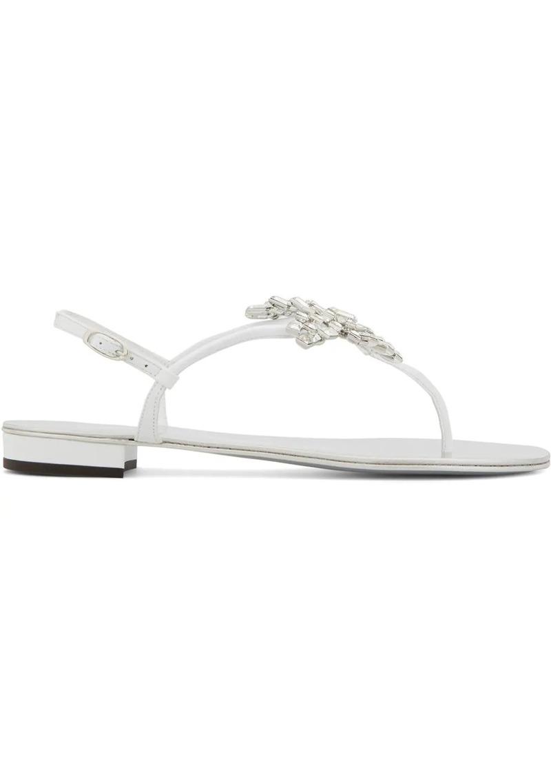 Giuseppe Zanotti New Butterfly leather sandals