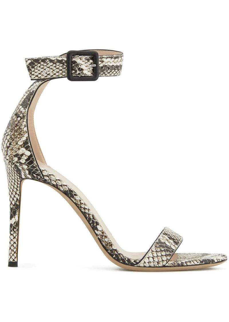 Giuseppe Zanotti Neyla python-effect sandals