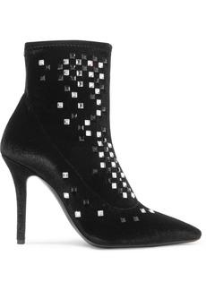 Giuseppe Zanotti Notte Crystal-embellished Velvet Ankle Boots