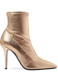 Giuseppe Zanotti Notte Metallic Leather Sock Boots