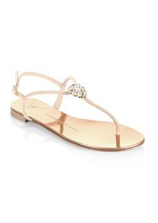 Giuseppe Zanotti Nuvo Rock Swarovski Flat Sandals