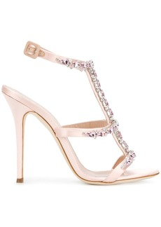 Giuseppe Zanotti rhinestone T-bar sandals