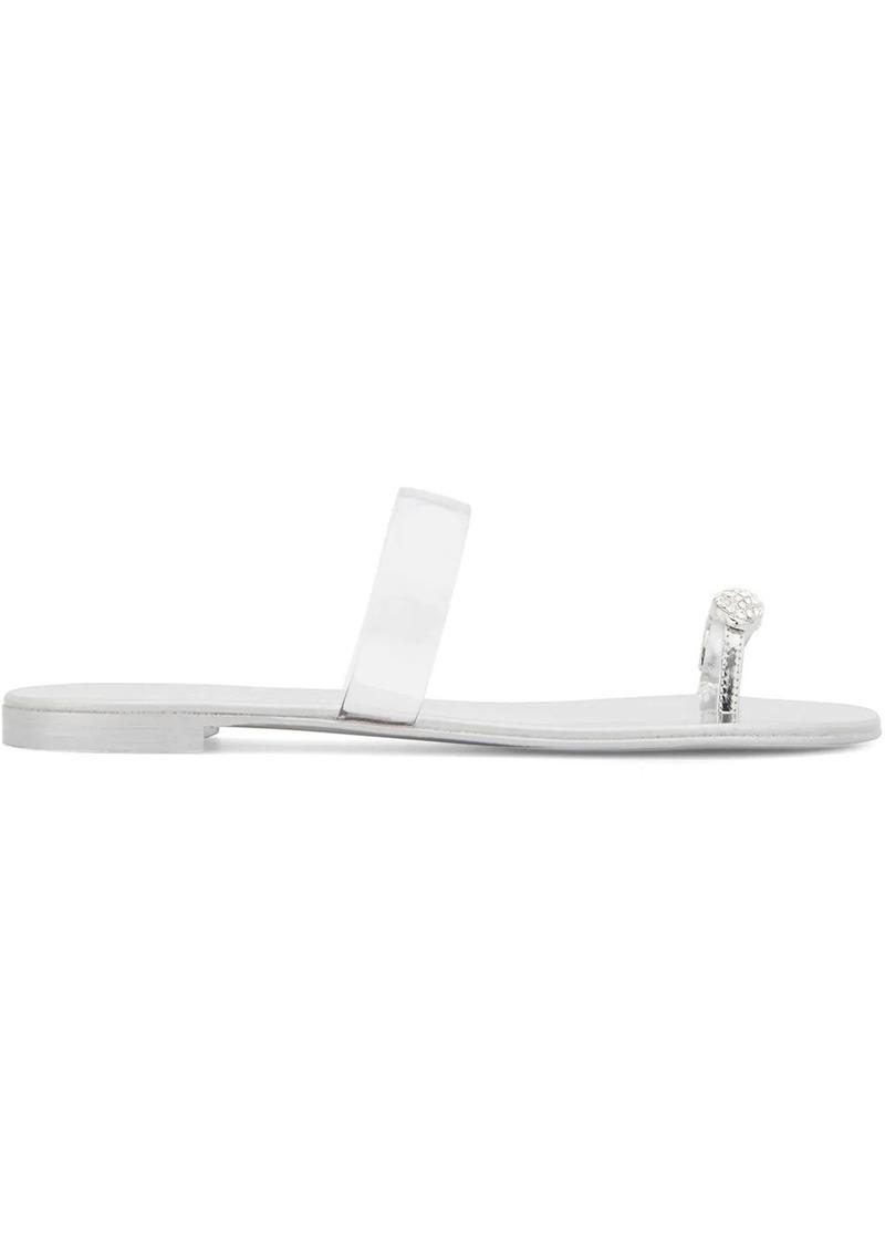 Giuseppe Zanotti Ring Ghost flat sandals