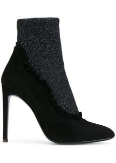 Giuseppe Zanotti ruffled lurex sock booties