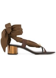 Giuseppe Zanotti scarf tie sandals
