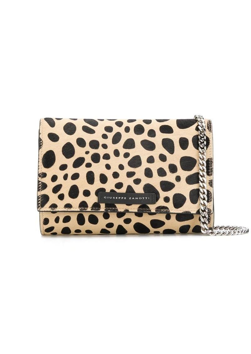 Giuseppe Zanotti Selene animal-pattern clutch bag