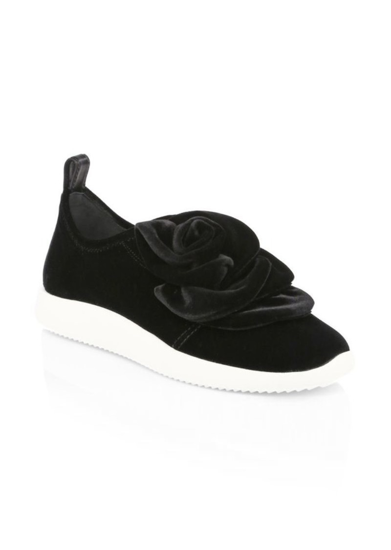 0a5814f927302 Giuseppe Zanotti Single Rose Velvet Slip-On Sneakers | Shoes