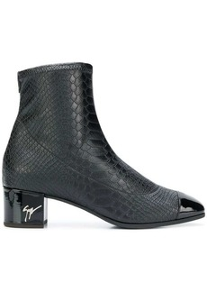 Giuseppe Zanotti snake embossed ankle boots