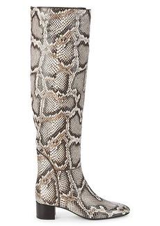 Giuseppe Zanotti Snake-Embossed Over-the-Knee Boots