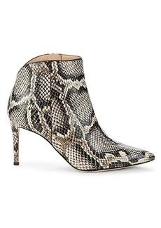 Giuseppe Zanotti Snakeskin-Print Leather Booties