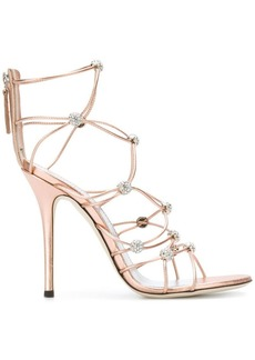 Giuseppe Zanotti strappy crystal beaded heeled sandals