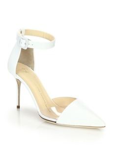 Giuseppe Zanotti Suede Ankle-Strap D'Orsay Pumps