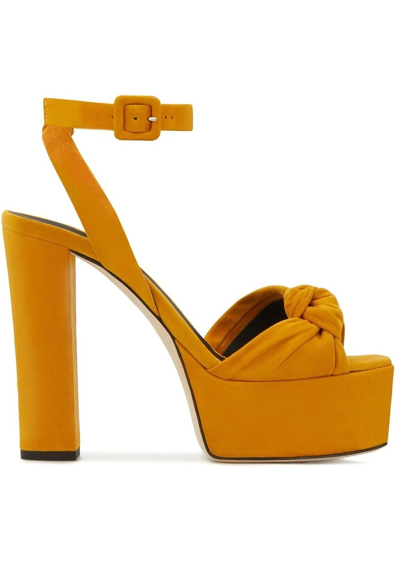 Giuseppe Zanotti suede high platform sandals