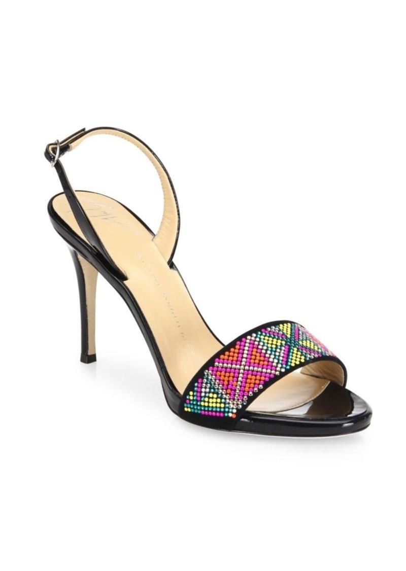 Giuseppe Zanotti Swarovski Crystal Accented Leather Sandals m1SOx1d