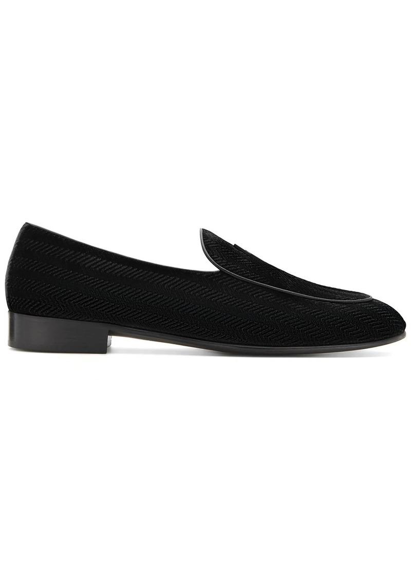 Giuseppe Zanotti textured velvet loafers