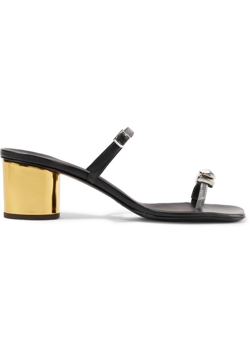 Giuseppe Zanotti Vampiro Crystal-embellished Leather Sandals