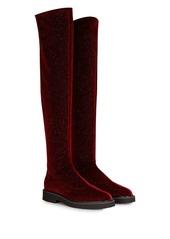 Giuseppe Zanotti velvet over-the-knee boots