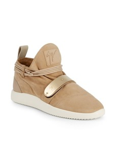 Giuseppe Zanotti Wraparound Lace Leather Sneakers