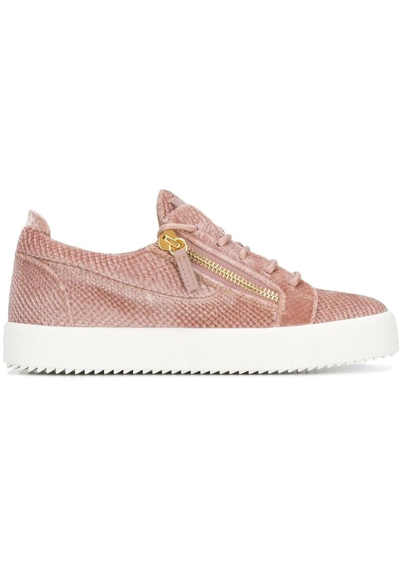 Giuseppe Zanotti zip detail sneakers