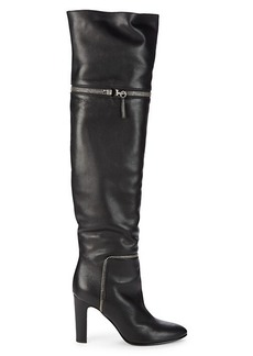 Giuseppe Zanotti Zip-Off Leather Over-the-Knee Boots