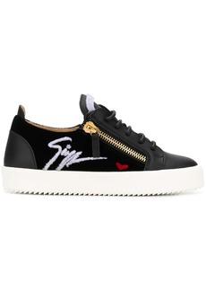 Giuseppe Zanotti zipped logo sneakers