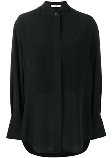 Givenchy pleated front bib blouse
