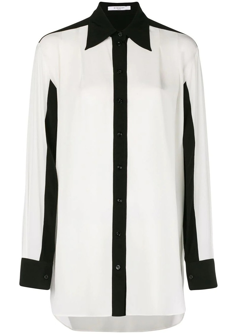 Givenchy contrast trim blouse