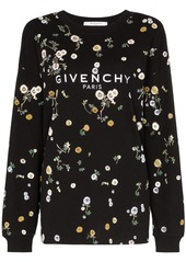 Givenchy floral logo print sweatshirt