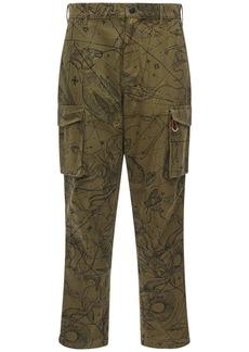 Givenchy 18cm Astromap Print Cotton Cargo Pants