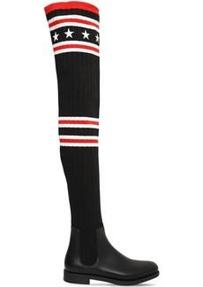 Givenchy 30mm Storm Knit & Rubber Boots