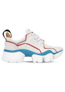 Givenchy 45mm Jaw Neoprene & Suede Sneakers