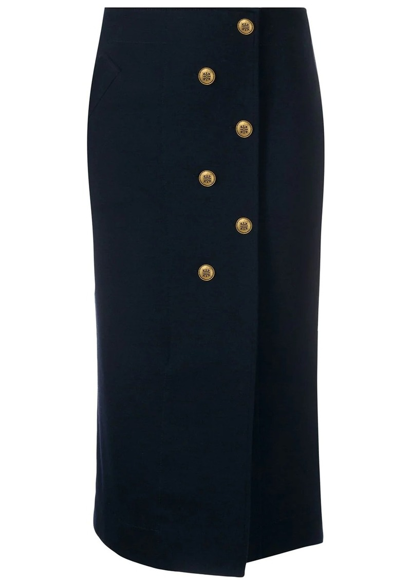 Givenchy 4G buttons fitted skirt