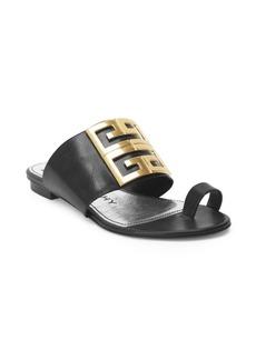 Givenchy 4G Flat Logo Sandals