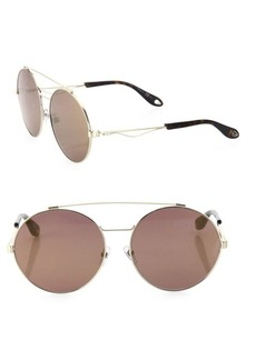 53MM Round Double-Bridge Sunglasses