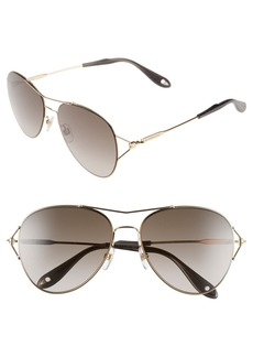 Givenchy 56mm Aviator Sunglasses