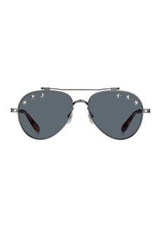 Givenchy 58MM Star Studded Aviator Sunglasses
