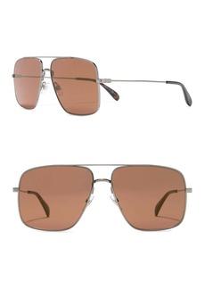 Givenchy 61mm Square Aviator Sunglasses
