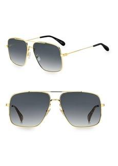 Givenchy 61MM Squared Caravan Aviator Sunglasses