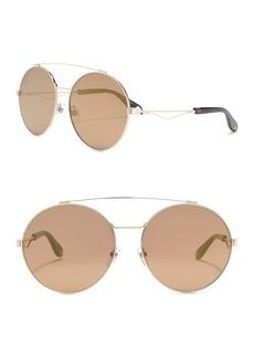 Givenchy 62mm Oval Aviator Sunglasses