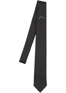 Givenchy 6.5cm Logo Print Silk Tie